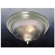 Volume Lighting 1 Light Ceiling Fixture Flush Mount; Brushed Nickel