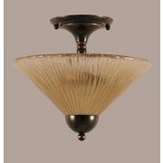 Toltec Lighting 2 Light Semi Flush Mount; Black Copper