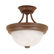 Millennium Lighting 2 Light Semi-Flush Mount; Satin Nickel