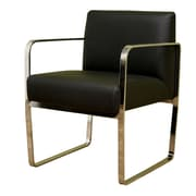 Wholesale Interiors Baxton Studio Leather Guest Chair