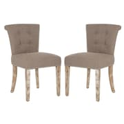 angelo:HOME Lexi Parsons Chair (Set of 2); Smoke Grey Sand