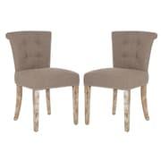 angelo:HOME Lexi Side Chair (Set of 2); Smoke Grey Sand