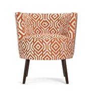 angelo:HOME Lily Barrel Chair in Blue & White; Orange