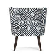 angelo:HOME Lily Barrel Chair in Blue & White; Blue