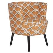 angelo:HOME Lily Modern Barrel Chair; Orange
