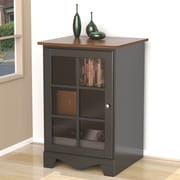 Pinnacle 1-Door Audio Tower from Nexera - Cinnamon-Cherry and Black