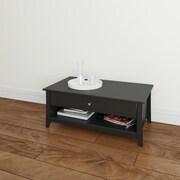Nexera Tuxedo Melamine Coffee Table, Black, Each (68717499543-3)