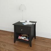 Nexera Tuxedo Melamine End Table, Black, Each (68717499542-6)