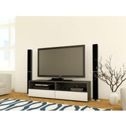 Allure 60-inch TV Stand with 2 open spaces, 2  drawers from Nexera