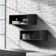 Avenue Rectangular Wall Shelves (2) from Nexera