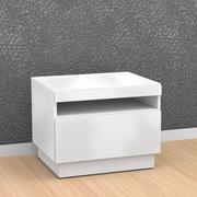Nexera Blvd Melamine End Table, White, Each (68717499479-5)