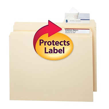 Smead® Seal and View® Clear Label Protector, Size 3-1/2x1-11/16-Inches before folding, 100/Pack (67600)