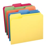 Smead® File Folder, 1/3-Cut Tab, Letter Size, Assorted Colors, 100/Box, (11943)