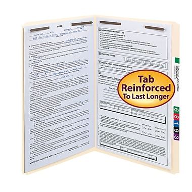 Smead® Reinforced Manila Fastener Folders