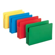 "Smead® Poly File Pocket, Straight-Cut Tab, 3-1/2"" Expansion, Legal Size, Assorted Colors (73550)"