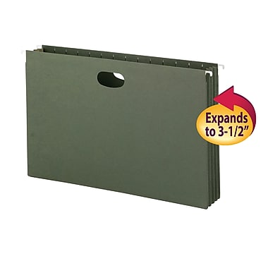 Smead® Hanging File Pockets, 3-1/2 Inch Expansion, Legal Size, Standard Green, 10/Box (64320)