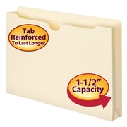 "Smead® File Jacket, Reinforced Tab, 1-1/2"" Expansion, Legal Size, Manila, 50/Box (76540)"