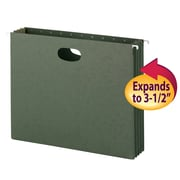 Smead® Hanging File Pockets, 3-1/2 Inch Expansion, Letter Size, Standard Green, 10/Box (64220)