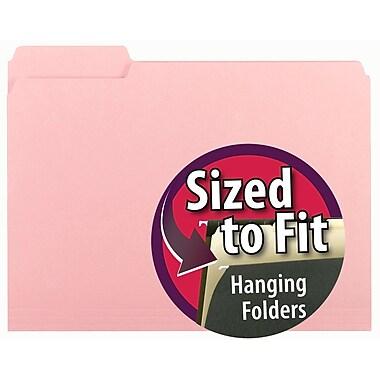 Smead® Interior File Folder, 1/3-Cut Tab, Letter Size, Pink, 100/Box (10263)