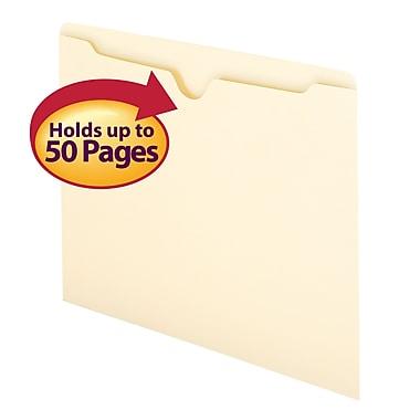 Smead® File Jacket, Flat-No Expansion, Letter Size, Manila, 100/Box (75410)