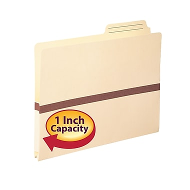 Smead® File Pocket, 2/5-Cut Printed Tab, Tyvek®-reinforced, Manila, 50/Box