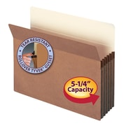 """Smead® File Pocket, Straight-Cut Tab, 5-1/4"""" Expansion, Letter Size, Redrope, 10/Box (73234)"""