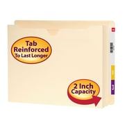 "Smead® End Tab Expanding File Jacket, Reinforced Straight-Cut Tab, 2"" Expansion, Letter Size, Manila, 25/Box (76910)"