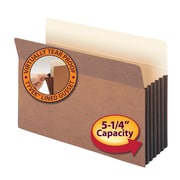 """Smead® File Pocket, Straight-Cut Tab, 5-1/4"""" Expansion, Legal Size, Redrope, 10/Box (74274)"""