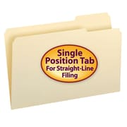 Smead® Manila Folder, 1/3-Cut Tab Right Position, Legal Size, 100/Box (15333)