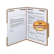 Smead® Fastener File Folder, 2 Fasteners, Reinforced 2/5 -Cut Tab Right of Center Position, Letter, Kraft, 50/Box (14880)