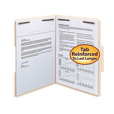 Smead® Fastener File Folder, 2 Fasteners, Reinforced 1/3-Cut Tab, Letter Size, Manila, 50/Box (14537)