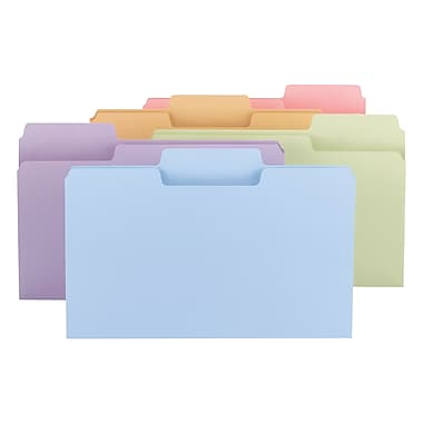 Smead® SuperTab® File Folder, Oversized 1/3-Cut Tab, Legal Size, Assorted Colors 100/Box (11962)