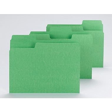 Smead® SuperTab® File Folder, Oversized 1/3-Cut Tab, Letter Size, Green, 100/Box (11985)