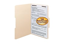 Smead® Fastener File Folder, 1 Fastener, Reinforced 1/3-Cut Tab, Legal Size, Manila, 50/Box (19534)