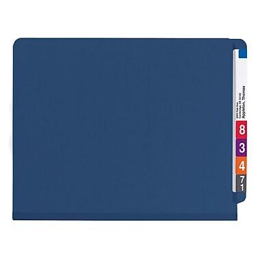 Smead® End Tab Pressboard Classification File Folder with SafeSHIELD®, Letter, Dark Blue, 10/Box (26784)