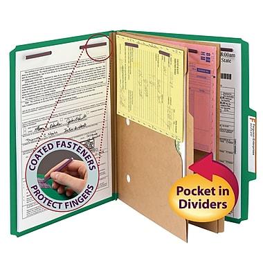 Smead® Pressboard Classification Folder w/ Pocket Divider, SafeSHIELD® Fasteners, 2