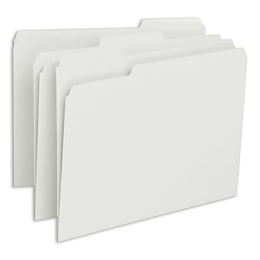 Smead® File Folder, 1/3-Cut Tab, Letter Size, White, 100/Box (12843)