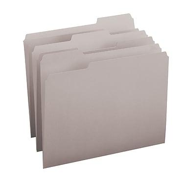 Smead® File Folder, 1/3-Cut Tab, Letter Size, Gray, 100/Box (12343)