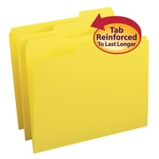 Smead® File Folder, 1/3-Cut Tab, Letter Size, Yellow, 100/Box (12943)