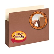 """Smead® File Pocket, Straight-Cut Tab, 3-1/2"""" Expansion, Letter Size, Redrope, 10/Box (73264)"""