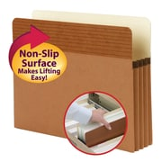 """Smead® Easy Grip® File Pocket, Straight-Cut Tab, 3-1/2"""" Expansion, Letter Size, Redrope, 25/Box (73208)"""