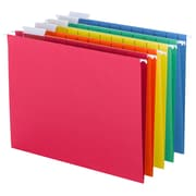 Smead® Hanging File Folders, 1/5-Cut Tab, Letter Size, Assorted Primary Colors, 25/Box (64059)