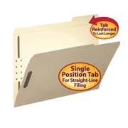 Smead® Fastener File Folder, 2 Fasteners, Reinforced 1/3-Cut Tab Right Position, Letter Size, Manila, 50/Box (14538)