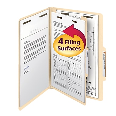 Smead® Classification File Folder, 1 Divider, 2