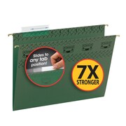 Smead® TUFF® Hanging File Folder with Easy Slide Tab, 1/3-Cut Sliding Tab, Letter Size, Standard Green, 20/Box (64036)