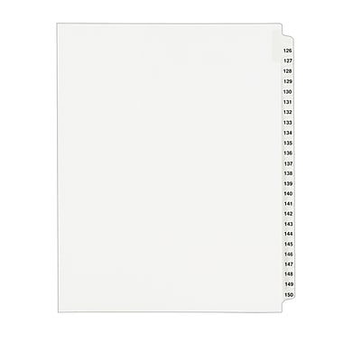 Avery(R) Standard Collated Legal Dividers Avery Style 1335, Letter Size, 126-150 Tab Set