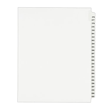 Avery(R) Standard Collated Legal Dividers Avery Style 1341, Letter Size, 276-300 Tab Set