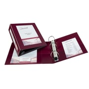 "Avery(R) Framed View Binder with 3"" One Touch EZD(TM) Rings 68040, Maroon"