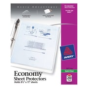 Avery(R) Economy Semi-Clear Sheet Protectors 76002, Acid Free, Box of 200