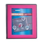 "Avery(R) Ultralast(TM) Binder with 1"" One Touch Slant Rings 79743, Pink"